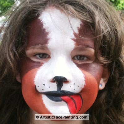 127 Chicago Face Painters Cute Puppy Artistic Face Painting Crafts