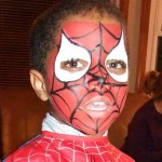 Spiderman Face Paint Design at Boys Birthday Party