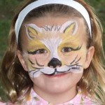 Kitten Face Paint Design at Company Picnic