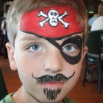Boys Pirate Theme Birthday Party Face Painting