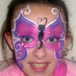 Girls are Always Happy to Have Unique Butterfly Face Painting