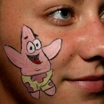 Sponge Bob Facepainting at High School Party