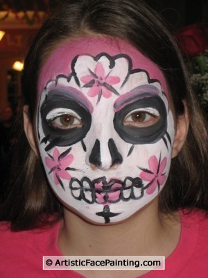 Face Painting Teen Party Ideas – Our Face Painters Add Extra Party ... Half Skeleton Face Painting
