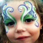 Gems and Glitter Accent Our Face Paint Design Ideas