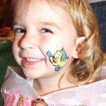 Flounder Little Mermaid Face Painting